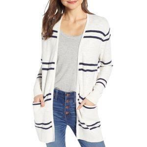 NWOT Madewell Stripe Summer Ryder Cardigan Sweater